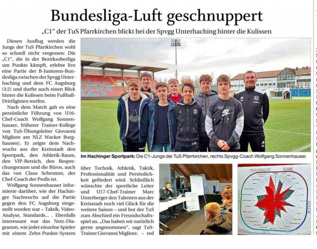 Der PNP Bericht zur C1-Jugend in Unterhaching